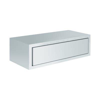 Mensole A Cassetto Mensola Con Cassetto Spaceo Bianco Sp 1 8 Cm Prezzi E