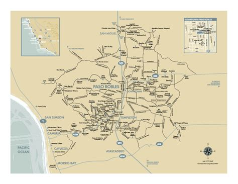 paso robles paso robles wine country map paso robles california