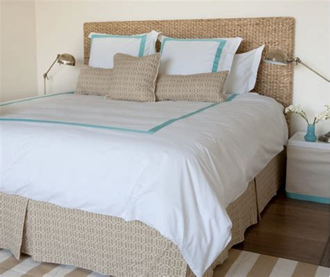 beachy headboard ideas beach bungalow inspired bedroom seagrass headboard white