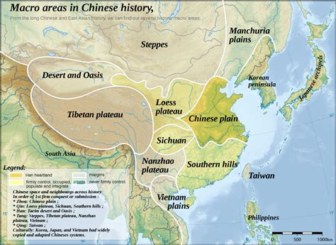 physical map of china ancient geography map