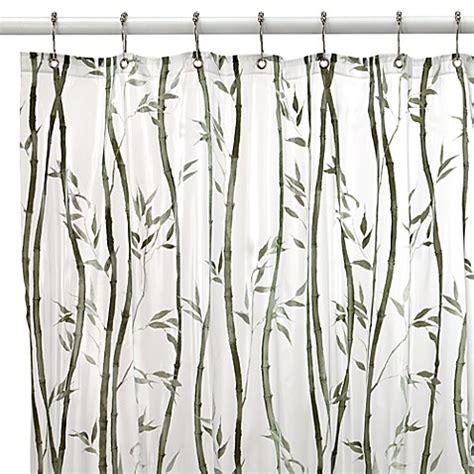 bamboo print shower curtain bamboo vinyl shower curtain bed bath beyond
