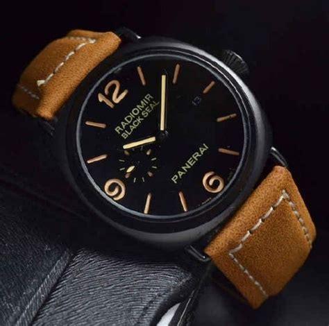 New Celana Pendek Pria Thin Brown Stitch jual jam tangan pria luminor panerai new leather light brown box quality yukk