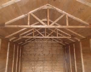 garage roof trusses hip shed storage with loft car truss design
