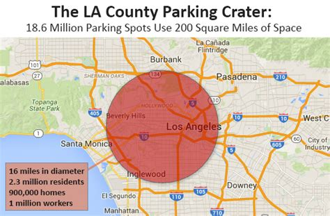How Much Is 500 Square Feet mapped all 200 square miles of parking in la county as