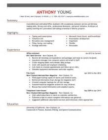 Resumes For Office by Unforgettable Office Assistant Resume Exles To Stand