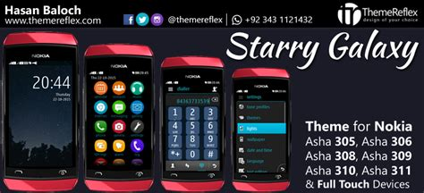 themes nokia galaxy starry galaxy theme for nokia asha 305 asha 306 asha 308