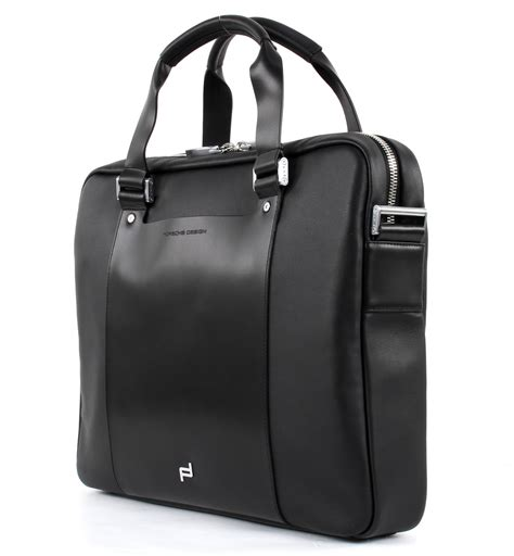 porsche pouch porsche design laptop bag shyrt leather black