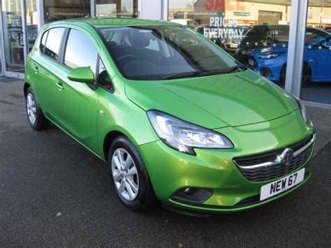 vauxhall green used lime green metallic vauxhall corsa for sale