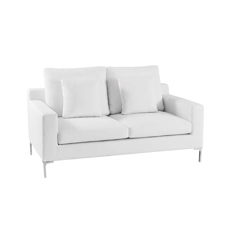 two sofa oslo two seater sofa white dwell
