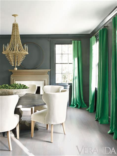 green walls grey curtains can we discuss the pantone color of the year emerald green
