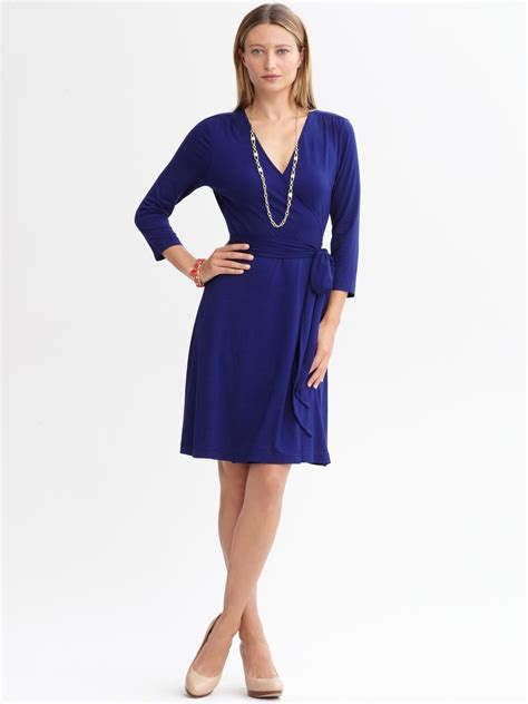 Gemmas Adventures In Shopping Bringing Back The Dress by Banana Republic Gemma Wrap Dress In Blue Mythic Blue Lyst