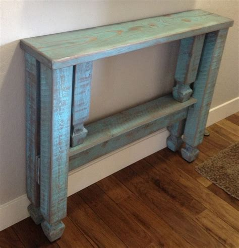 narrow foyer bench we made a narrow entryway table and distressed it to match