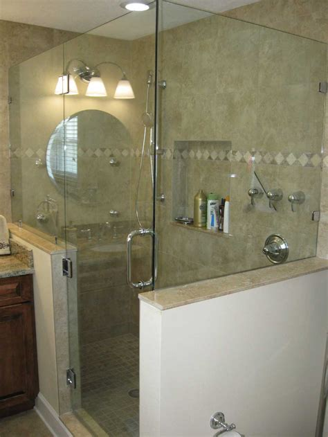 Glass Shower Doors And Walls Glass Shower Doors Frameless Frameless Shower Door Hinged Knee Wall Panel Master Bath