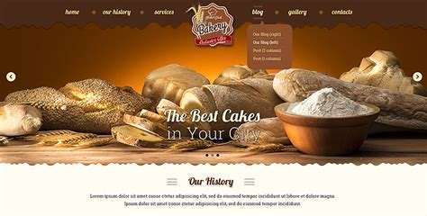 bootstrap themes exclusive bakery bootstrap theme gridgum