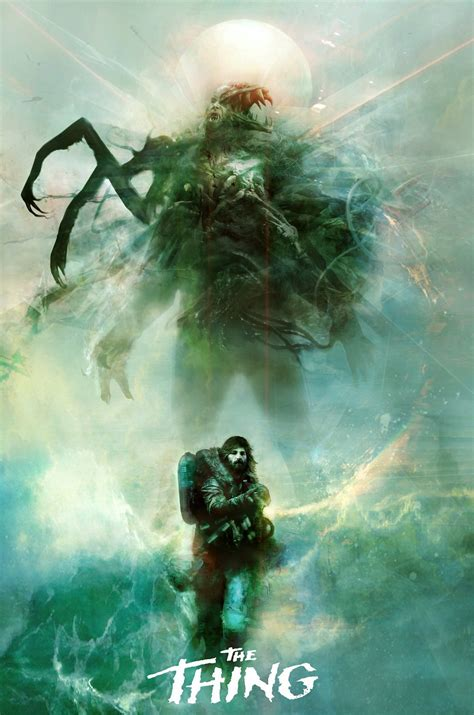 the movie art of the geeky nerfherder movie poster art the thing 1982