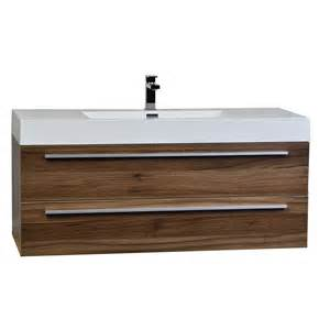 Wall Mount Bathroom Vanity by 47 Quot Wall Mount Contemporary Bathroom Vanity Walnut