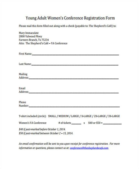 conference registration receipt template 23 conference registration form templates