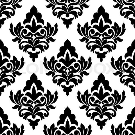pattern vector motifs bold damask style seamless pattern with large black and