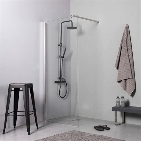 cabina doccia a pavimento doccia walk in 90 cm per piatto doccia o filo pavimento