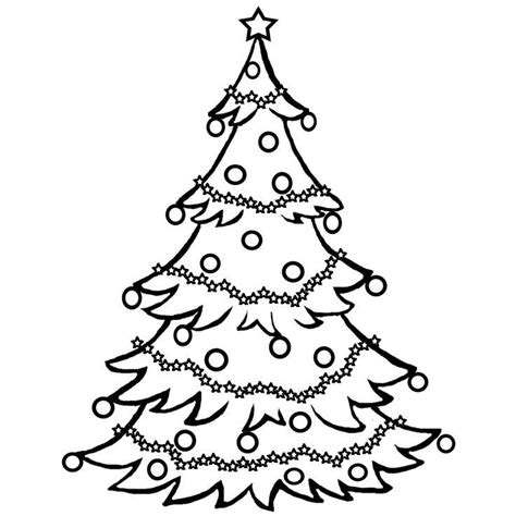 Christmas Tree Clipart Coloring Page | christmas tree outline clip art coloring home