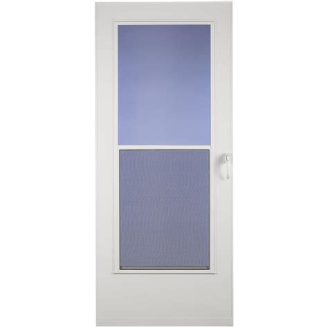 Mobile Home Doors At Lowes by Shop Larson Mobile Home White Mid View Wood