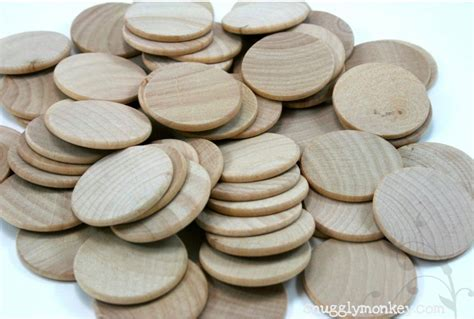 Wood Disk Placemat It Or It by 50 Unfinished Wood Discs Coins Circles 1 5 3 8cm