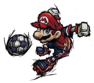 Kaos Mario Bross Mario Artworks 16 press the buttons strikers on parade