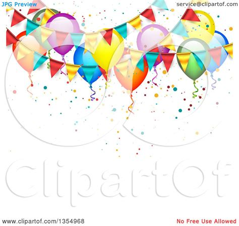 Bunting Flag Animal Banner Ulang Tahun clipart of a background of colorful balloons