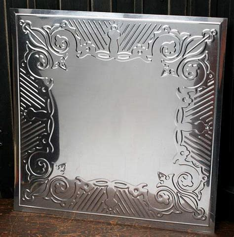 12 quot galvanized metal embossed tin gothic scroll ceiling