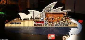sydney opera house lego man plays with lego for a living