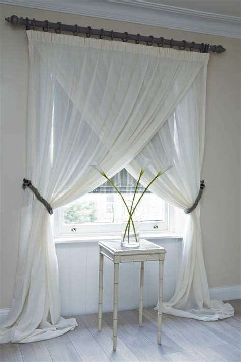 curtains sheers window treatments sheer criss cross curtains for the home
