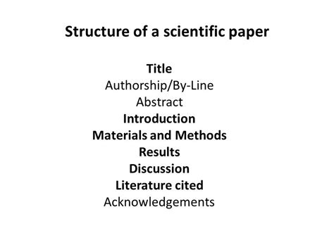 structure scientific essay scientific paper structure