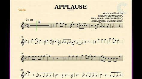 lady gaga applause piano tutorial by plutax violin applause lady gaga sheet music chords and vocals