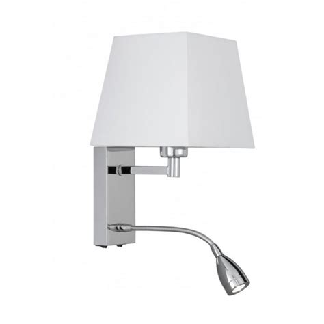 bed wall light  shade incorporating flexible led book light