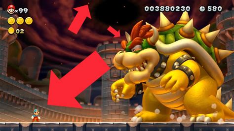 super mario bros  ps hd remake final bowser battle
