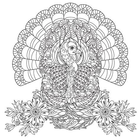 turkey mandala coloring page thanksgiving coloring pages for adults coloring adult