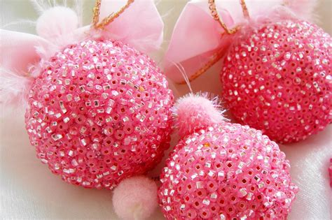 pink christmas ornaments pink christmas decoration rose