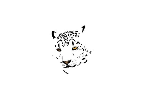 small colored partial leopard face tattoo sketch tattoos