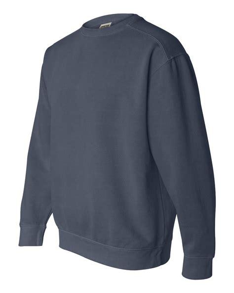 comfort sweatshirts comfort colors mens pigment dyed cotton blend crewneck