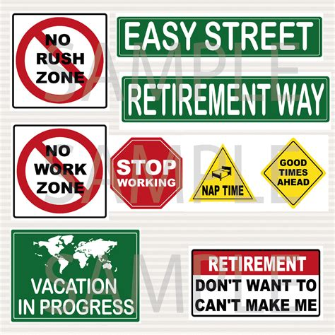 printable retirement road signs retirement party printable signs kit road signs by surpriseinc