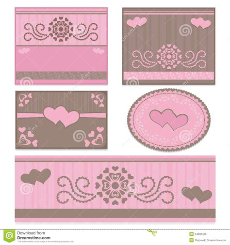 moldes kit toalete templates for wedding invitations stock vector image