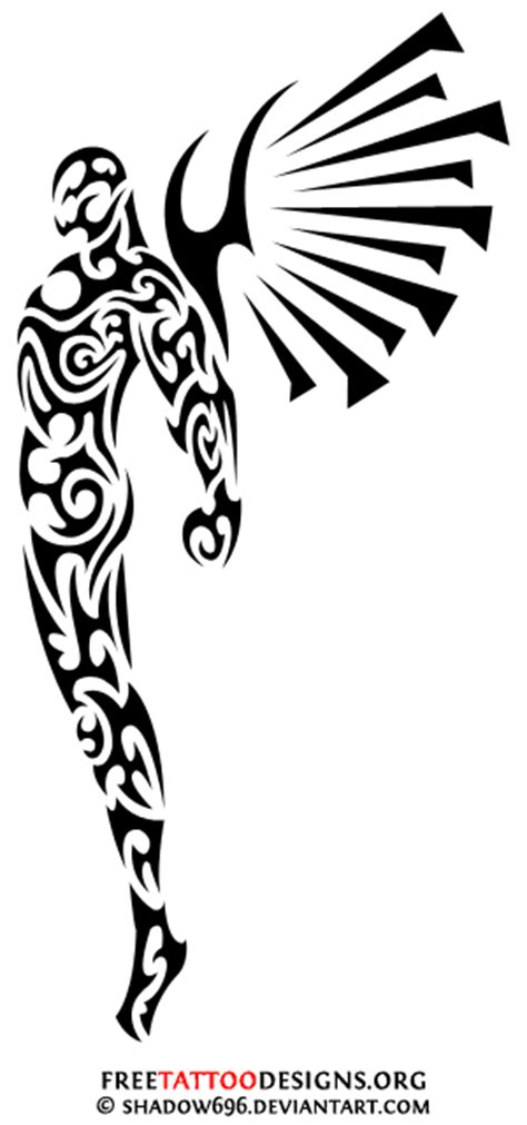 tribal angel tattoo angel tattoo tattoos wings guardian and st michael