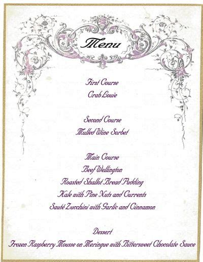 elegant dinner party menu ideas 17 best images about menus on pinterest typography