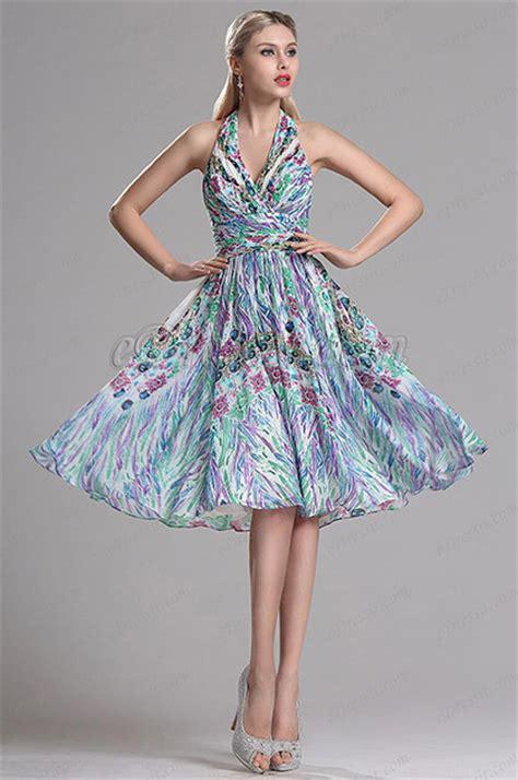 halter neck short printed dress summer floral dress
