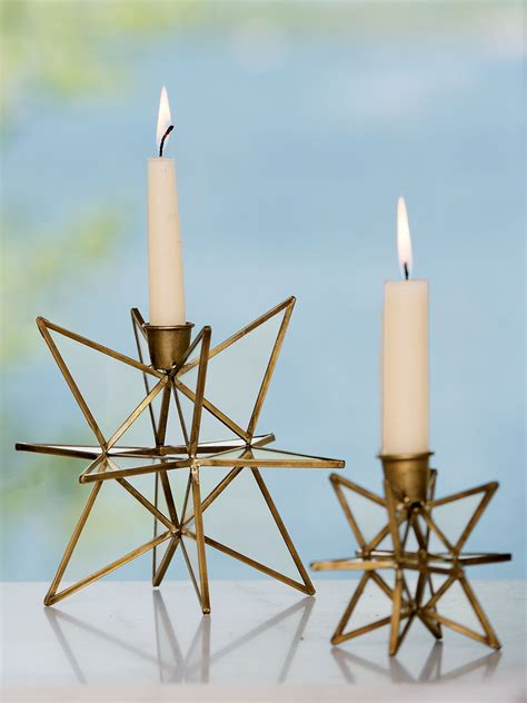 moravian star light set bronze moravian candle holders set of 2 in choice of sizes