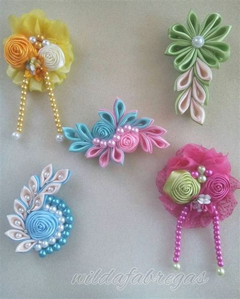 Bros Kanzashi Flower 17 best images about hairbows on flower headbands big bows and hair bows for