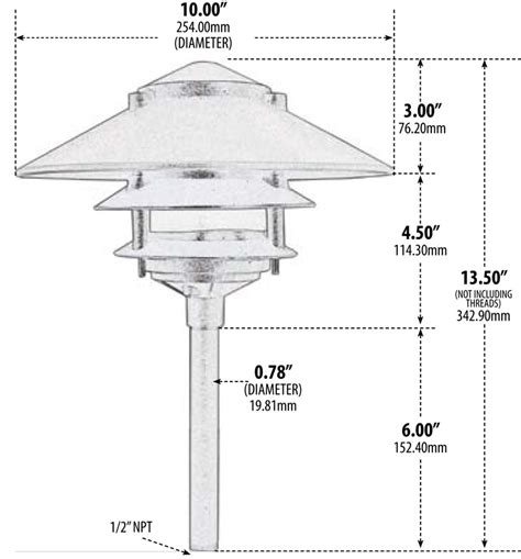 finely crafted cast aluminum  tier pagoda aqlighting