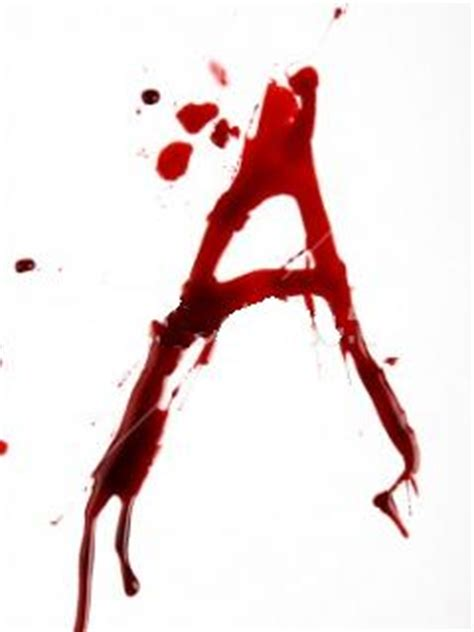 Letter With Blood A Alphabet Letter Wallpaper 240x320 Wallpoper 4347
