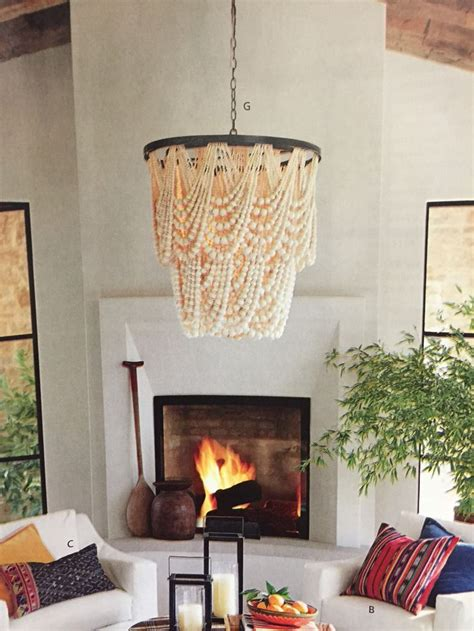 wood bead chandelier pottery barn pottery barn amelia wood bead chandelier home decor