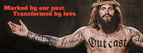 jesus had a tattoo ad caign with tattooed jesus gets lots of ink not all